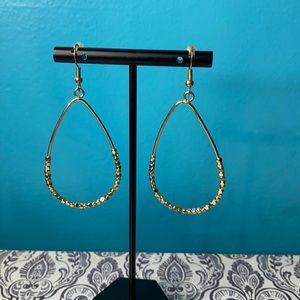 Chico's Gold Tone Teardrop Dangle Earrings